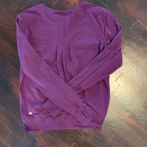 Burgundy / Purple lululemon crew neck sweatshirt